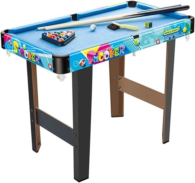 WJSWHW Juego Mini Mesa de Billar de Mesa con triángulo, Bolas, Tacos, Tiza y Pincel Azul: Amazon.es: Deportes y aire libre