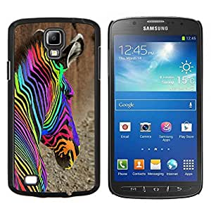 Dragon Case - FOR S4 Active I9295 (Do Not Fit S4) - iridescent colorful abstract zebra drugs - Caja protectora de pl??stico duro de la cubierta Dise?¡Ào Slim Fit