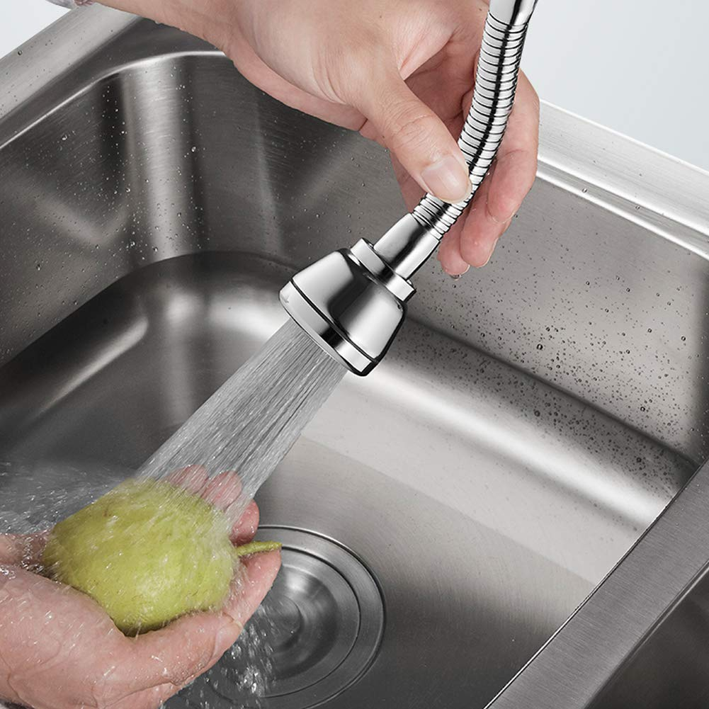 Burbujeador presurizado//puede girar 360 grados//Filtro de ahorro de agua//Tres modos de agua Aireador de grifo de agua