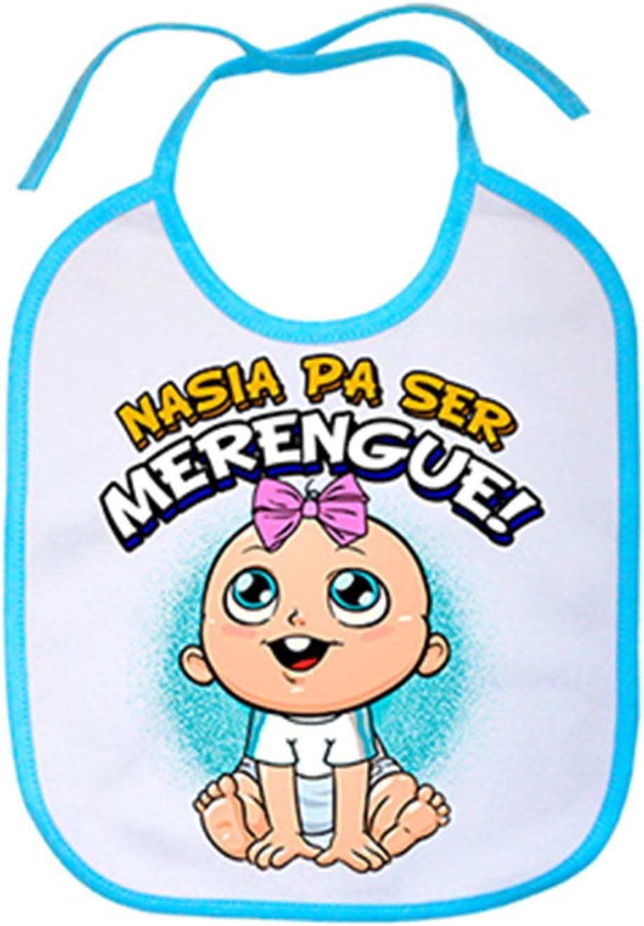 Babero nacida para ser Merengue Madrid f/útbol Celeste