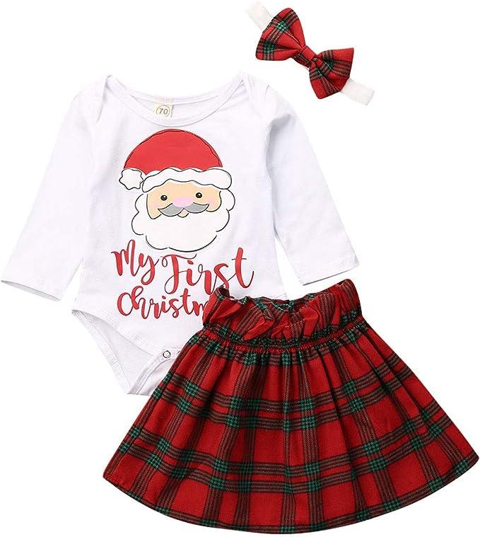 Tutu Skirt Tomppy Newborn Baby Girls Thanksgiving Clothes Outfits Infant Flower Long Sleeve Print Romper Headband Set