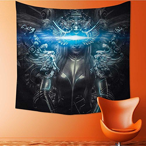 L-QN Tapestry Wall Tapestry Princess in Royal Silver Dress Futuristic Female Wall Hanging Yoga/Picnic/Camping Mat39W x 39L Inch
