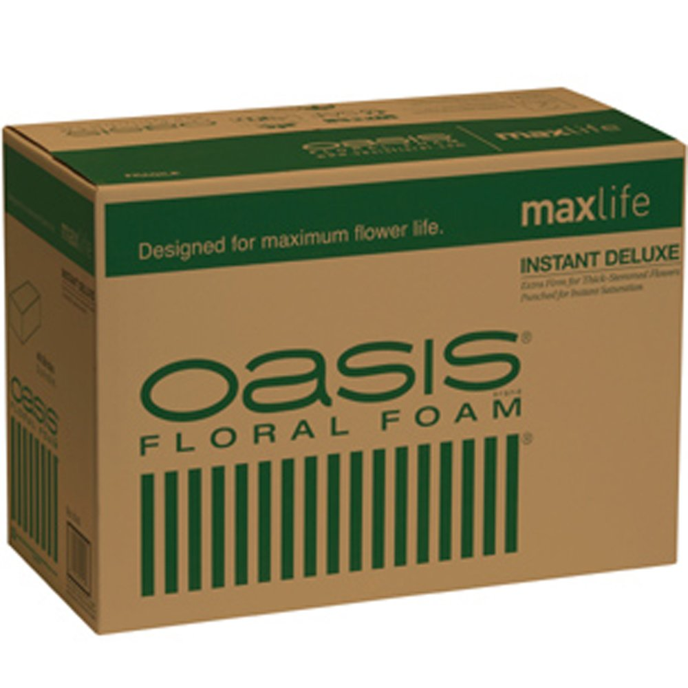 Oasis Instant Deluxe Floral Foam Maxlife (Case of 36 Bricks) Smithers-OASIS BURTON-014736