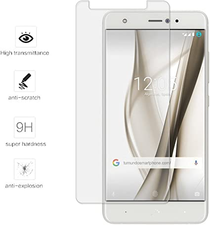 Tumundosmartphone Protector Cristal Templado para BQ AQUARIS X/X ...