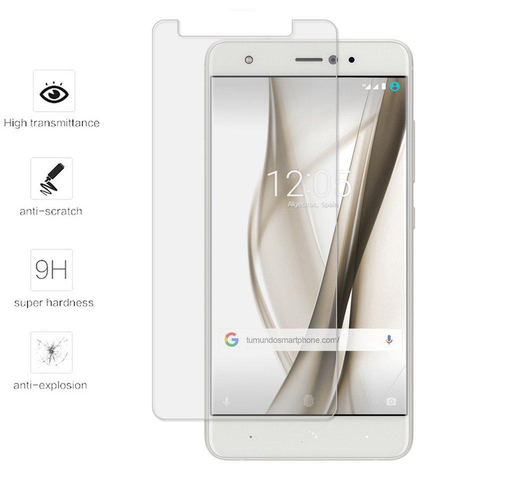 Tumundosmartphone Protector Cristal Templado para BQ AQUARIS ...