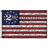 Flylong Second 2nd Amendment Vintage American Flag Banner USA Second 2A Man Cave Decor 3X5 Feet