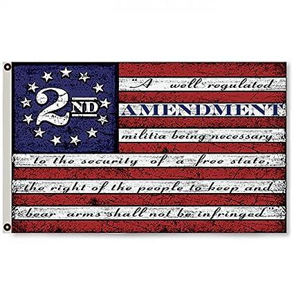 amazon com flylong second 2nd amendment vintage american flag