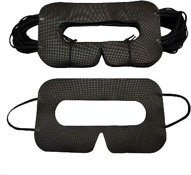 VR Eye Cover Mask Sanitary VR Mask VR Mask Rift 50 PCS Black VR Cover Pad YinQin Disposable VR Mask 50//100 PCS Universal Cover Mask for VR