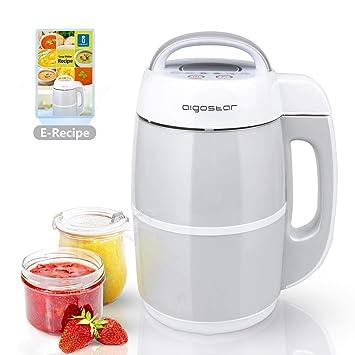 Aigostar Beanbaby 30IMW - 6 funciones en 1. Máquina de leche vegetal, mermeladas,