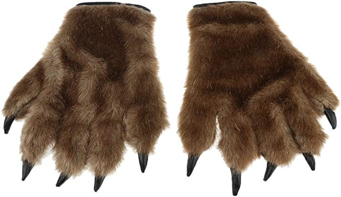 Amazon.com: Hairy Manos Guantes de huella Animal Lobo ...