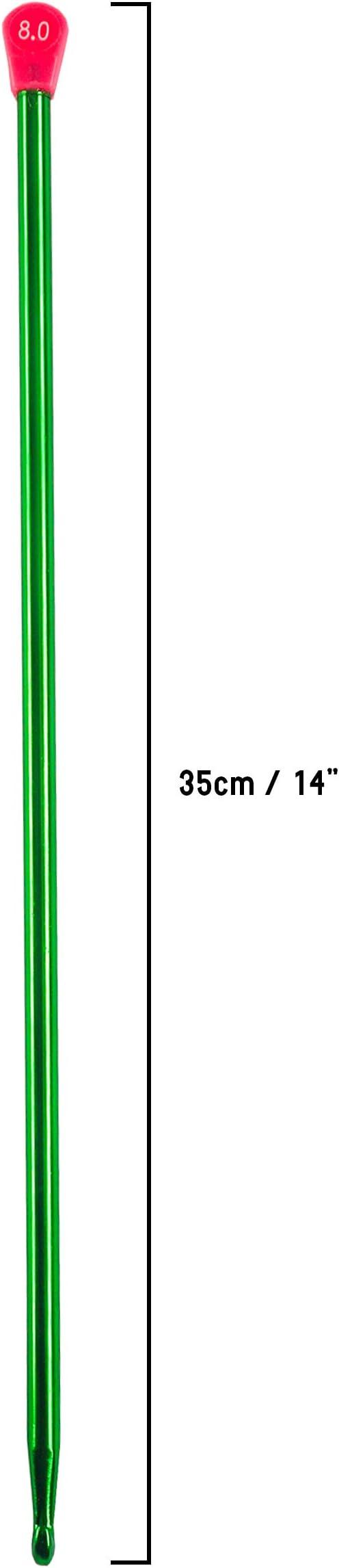 Aluminio Ganchillo Gancho Set (10 piezas) - 35cm (14 inches) 10 Multicolor Tamaños Diferentes Gancho Ideal para Ganchillo Proyectos, Set para Principiantes y Profesionales: Amazon.es: Hogar