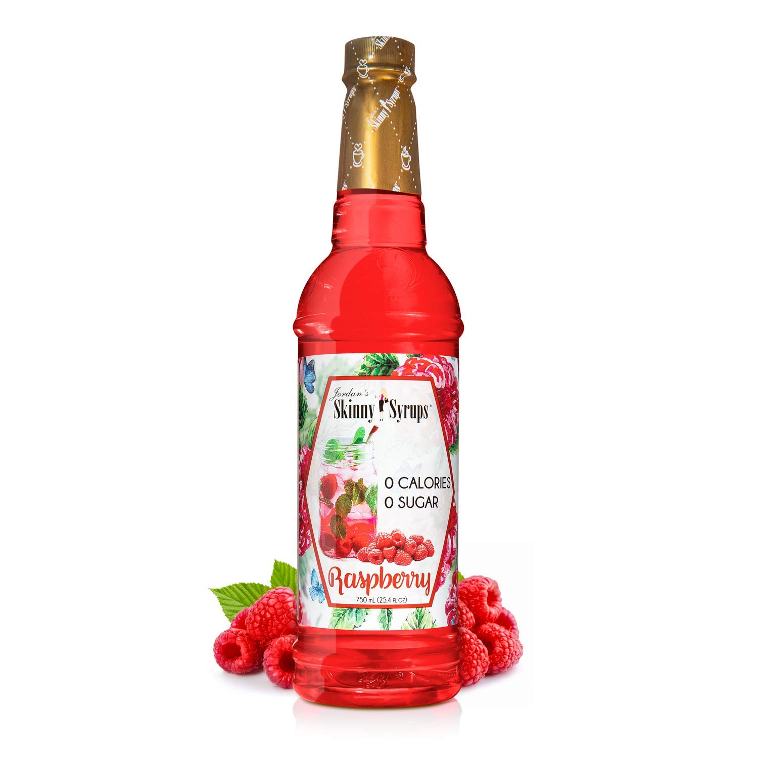 Jordan's Skinny Syrups Raspberry, Sugar Free Flavoring Syrup, 25.4 Ounce Bottle
