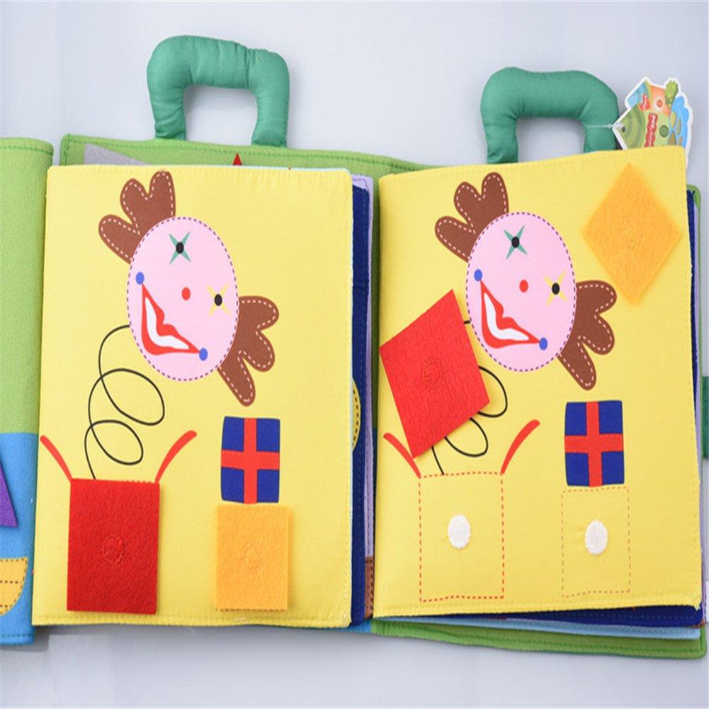 /3/anni I bambini bambini Per bambino morbido attivit/à libri seven-piece puzzle atossico Baby s first Learning Book con manico di riconoscimento grafica giocattoli educativi per bambini 0/