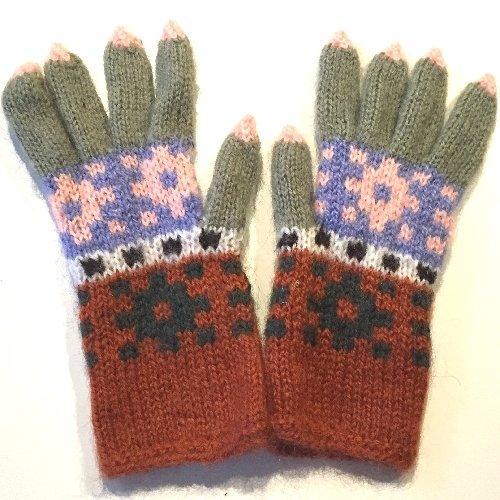 手編み手袋16 M