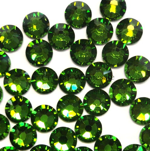 20ss Flat Back Crystals - 144 pcs Fern Green (291) Swarovski NEW 2088 Xirius 20ss Flat backs Rhinestones 5mm ss20