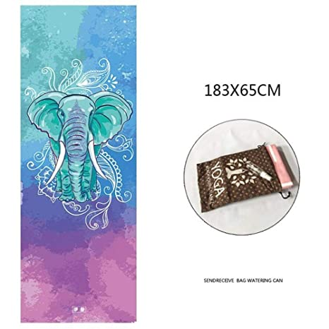 SULUO 183 * 65 cm Manta de Yoga Portátil Antideslizante ...