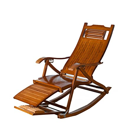 Amazon.com : L&J Rocking Chairs, Portable Folding Chairs Solid Wood ...