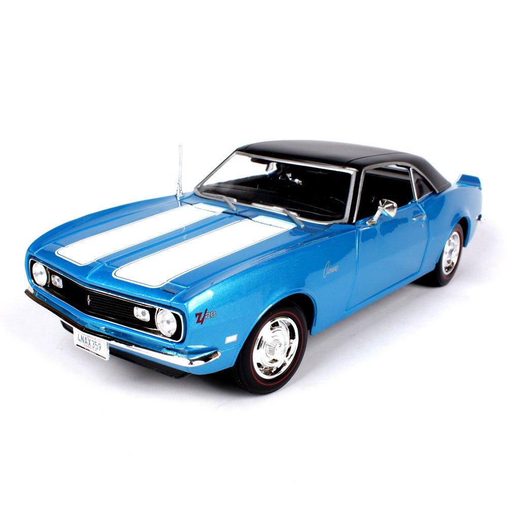 Haixin 1968 Chevrolet Z28 Stile Simulazione Lega Modello Auto, 01 18, Rosso e Blu Possa Essere selezionata