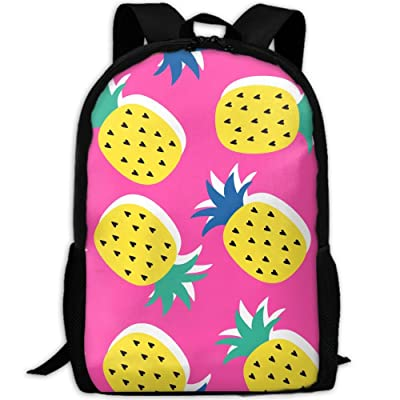 SZYYMM Create My Own Yellow Pineapple Oxford Cloth Fashion Backpack,Travel/Outdoor Sports/Camping/School, Adjustable Shoulder Strap Storage Backpack For Women And Men
