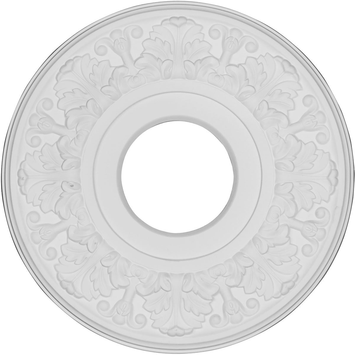 Ekena Millwork CMR12AP 11.5 x 3.5 x 1 in. Apollo Ceiling Medallion Primed