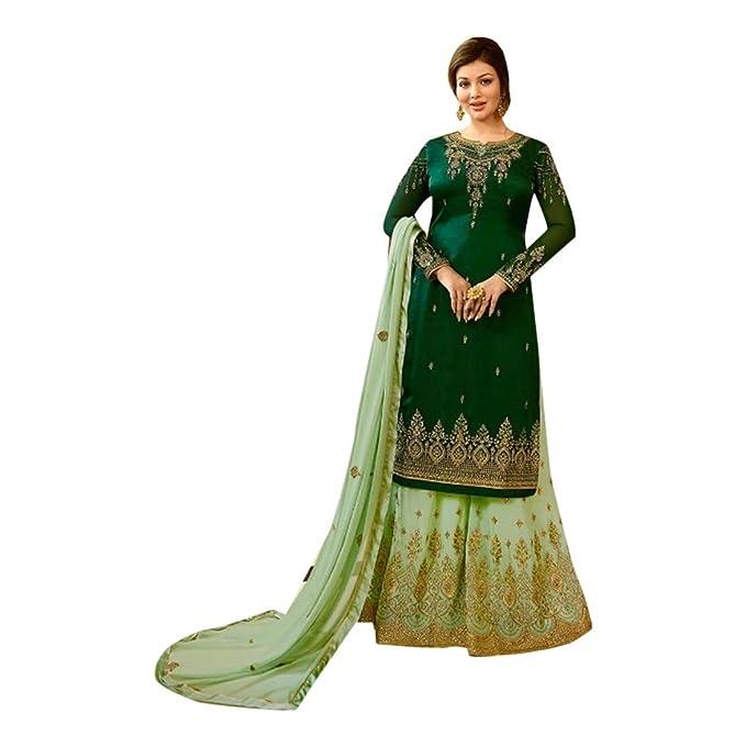 Amazon.com: Traje de Sharara para novia, color verde ...