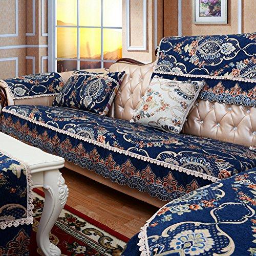 Sofa Cushions/Non-slip Thick Sofa Towel/Leather Sofa Cushions/Sofa Towel-E 90x260cm(35x102inch) by GDJVXCFV