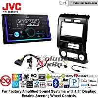 Volunteer Audio JVC KW-X830BTS Double Din Radio Install Kit with Bluetooth SiriusXM Ready Fits 2015-2016 Ford F-150, 2017 Ford F-250