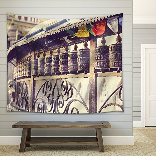 Prayer stones Fabric Wall Tapestry