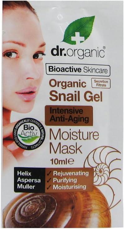Dr. Organic Set Mascarilla Hidratante 20 Uds. Baba De Caracol 200 ml
