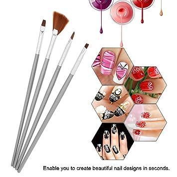 Amazon.com  Nail Brushes 4pcs/set UV Gel Nail Art Brush Fan
