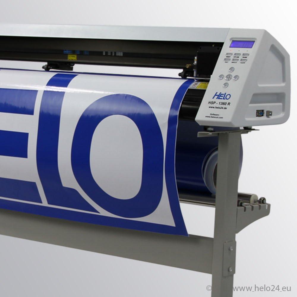 HELO HSP 1360 R para ancho de corte de 55 mm a 1250 mm, anchura máxima de medios: 1360 mm, incluye software de corte y de imagen vectorial de programa: Amazon.es: Oficina y papelería
