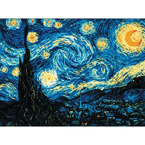 Starry Night After Van Gogh's Painting Counted Cross-Stitch,