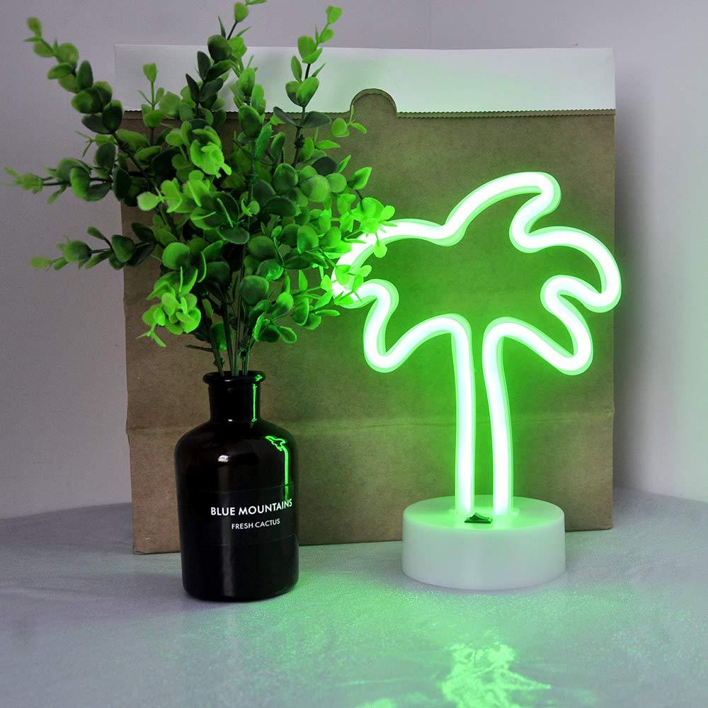 Luz de se/ñal de ne/ón Cactus luz de noche interior con l/ámparas de mesa de soporte Cable de bater/ía USB decoraci/ón de casa para dormitorio Fiesta