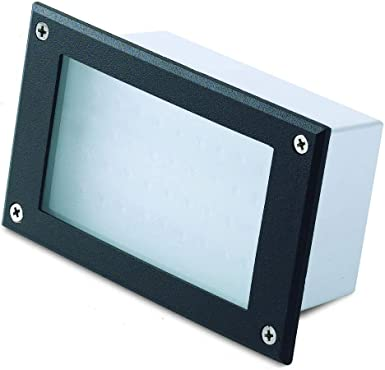 Foco empotrable LED para pared, señalizador de caminos, con 24 LEDs, luz fría 6000 K, con caja para empotrar: Amazon.es: Iluminación