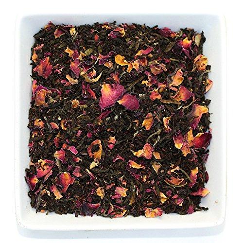 Tealyra - Rosy Earl Grey - Black Tea from Sri Lanka with Jasmine Green Tea and Rose Petals - Fresh Award Winning Tea - Loose Leaf Tea - Medium Caffeine - Grey Black Rose