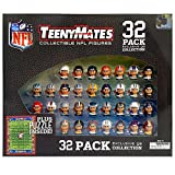 "Teeny Mates are 1"" collectible figures of your favorite sports teams. Own all your favorite NFL quarterbacks in one complete gift set collection! The set includes 1"" quarterback figures of all 32 NFL teams plus a complete 5"" x 7"", 35-piece fo..."