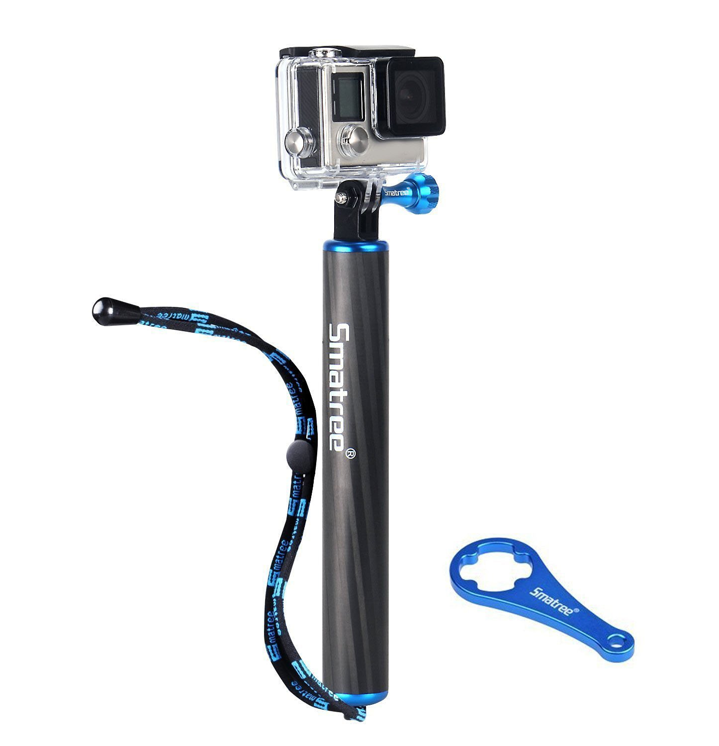 Smatree F1 for GoPro Hero 6/5/4/3+/3/Session/Action Cameras,Waterproof Floating Carbon Fiber Hand Grip