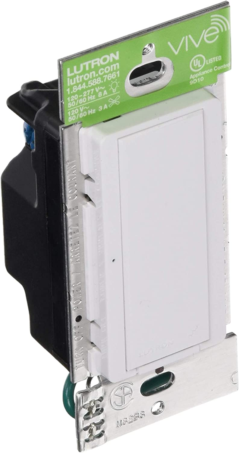 Lutron Maestro Wireless Electronic Switch MRF2-6ANS-WH6A Lighting// 3A Fan 120V
