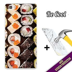Becool® Fun- Funda Gel Flexible para Huawei P8 Lite [ +1 Protector Cristal Vidrio Templado ]Carcasa TPU fabricada con la mejor Silicona, protege y se adapta a la perfección a tu Smartphone y con nuestro exclusivo diseño Me gusta el sushi