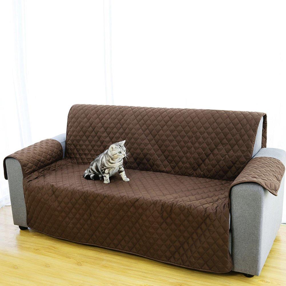 MAXWOW Sofa Abdeckung wasserdicht, Anti-rutsch Qulited 1 stück Polyester-Couch Sofaschutz Für Haustiere Hunde Kinder-Kaffee Sofa
