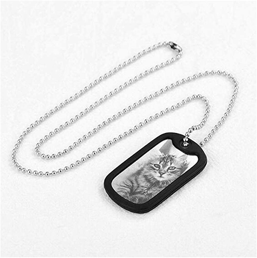 ZWSLY Customized Photo Dog Tag 925 Sterling Silver Necklace Personalized Jewellery