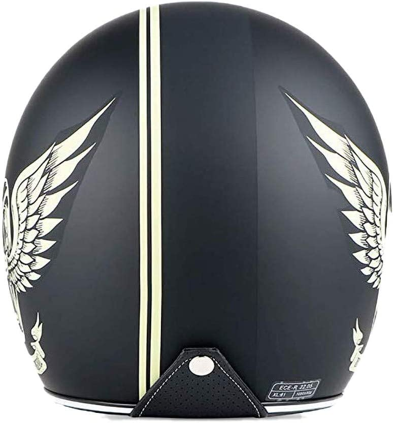 55-62 cm DOT//ECE-Zulassung f/ür M/änner und Frauen DKZK Jethelm Helm Motorradhelm Retro-Moto-Helm mit Sonnenblende Vintage Motorrad Motorrad Halbhelm Elektro-Fahrrad-Schutzhelm