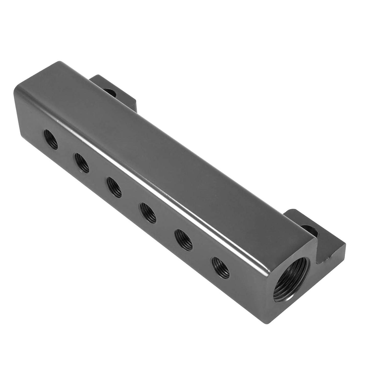 Schwarz Farbe dpPerformance Universal Aluminium Unterdruckverteiler