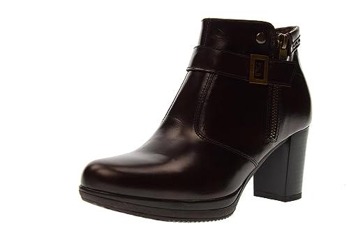 NERO GIARDINI scarpe donna stivaletti con tacco A719850D 300 TESTA DI MORO  taglia 39 Testa di moro  Amazon.it  Scarpe e borse 273e9b421fb