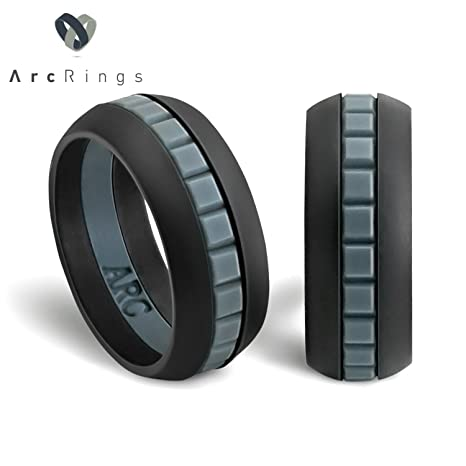 Amazon Com Silicone Wedding Ring For Men By Arcrings