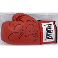 "$249 » Floyd Mayweather Jr. Autographed Red Everlast Boxing Glove LH""Money"" Beckett BAS Stock #159651"