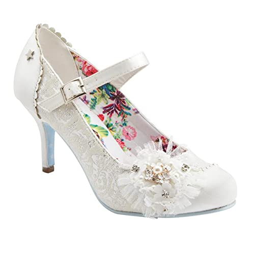 6dc80c89bc5879 Joe Browns Couture Hitched Bridal Wedding Shoes Ivory  Amazon.co.uk  Shoes    Bags