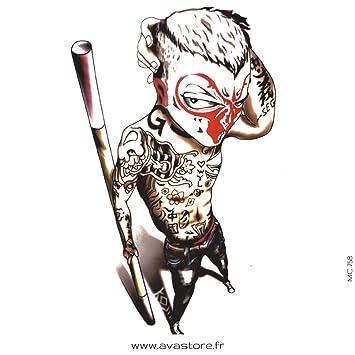 Tatuajes temporales tribal Guerrero maorí - Tatuaje efímero tribal ...