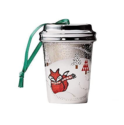 Starbucks Ceramic Cup Christmas Ornament, Fox, 2.5 - Amazon.com: Starbucks Ceramic Cup Christmas Ornament, Fox, 2.5: Home
