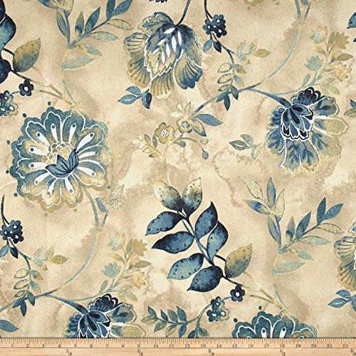 Kelly Ripa Home Light Hearted Fabric, Indigo ()